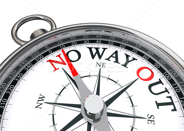 no way out concept compass Stock photo © donskarpo