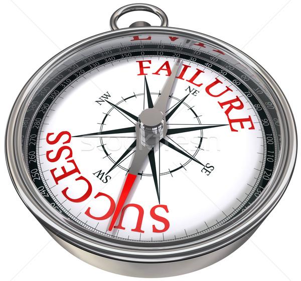 успех провал компас слов бизнеса изображение Сток-фото © donskarpo