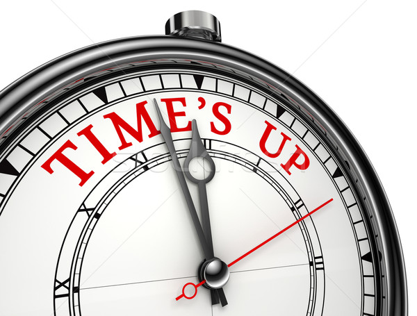 time is up concept clock Stock photo © donskarpo