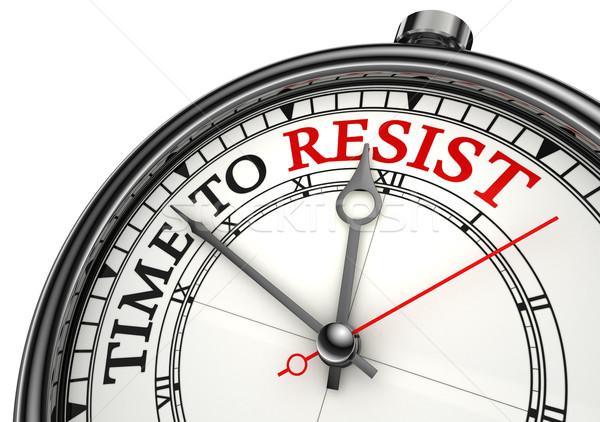 Foto d'archivio: Tempo · clock · primo · piano · bianco · rosso · nero