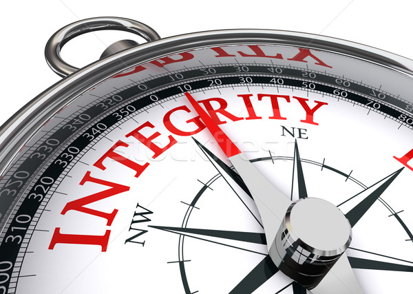 Stock photo: integrity conceptual compass