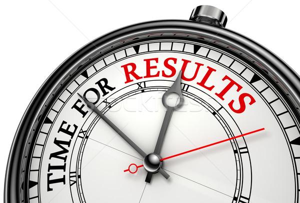 time for results concept clock Stock photo © donskarpo
