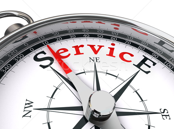 service red word on compass Stock photo © donskarpo
