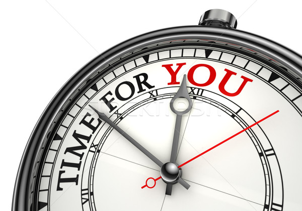 time for you concept clock Stock photo © donskarpo