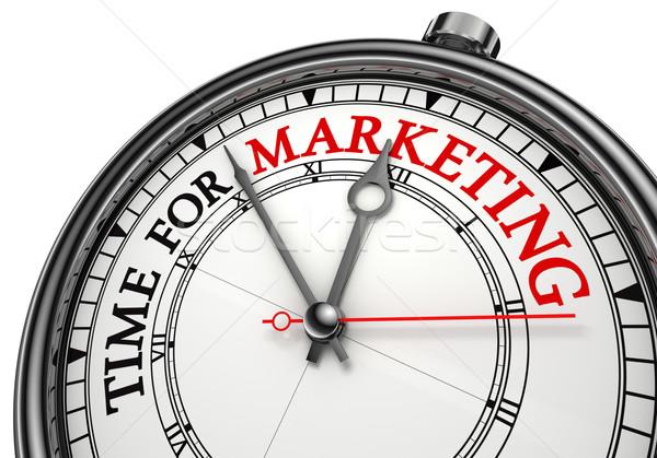 Сток-фото: время · маркетинга · часы · белый · красный · черный