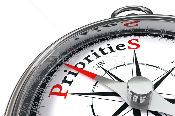 priorities concept compass Stock photo © donskarpo