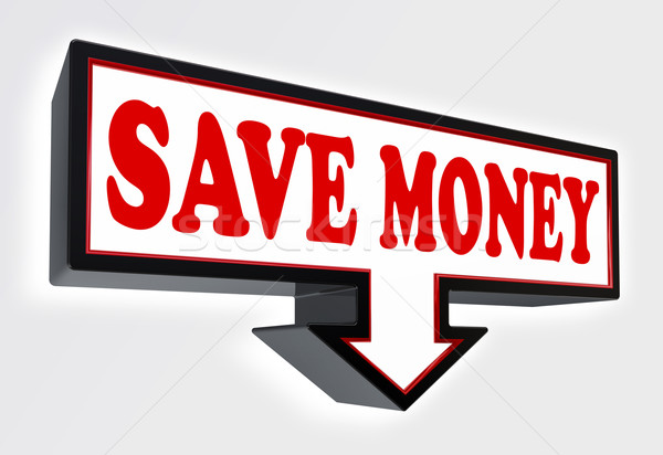 save money red and black arrow sign  Stock photo © donskarpo