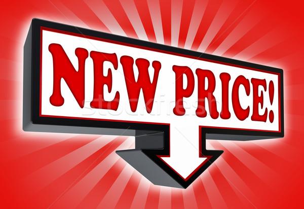 新しい 価格 にログイン 矢印 ダウン 赤 ストックフォト © donskarpo