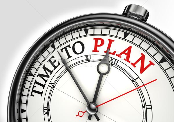time to plan concept clock Stock photo © donskarpo
