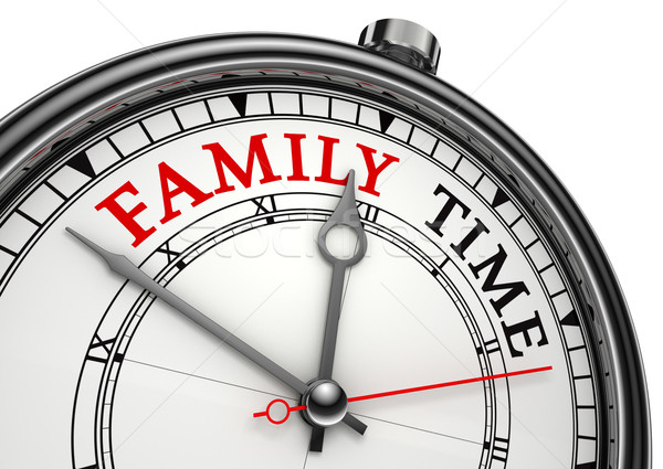 family time concept clock Stock photo © donskarpo