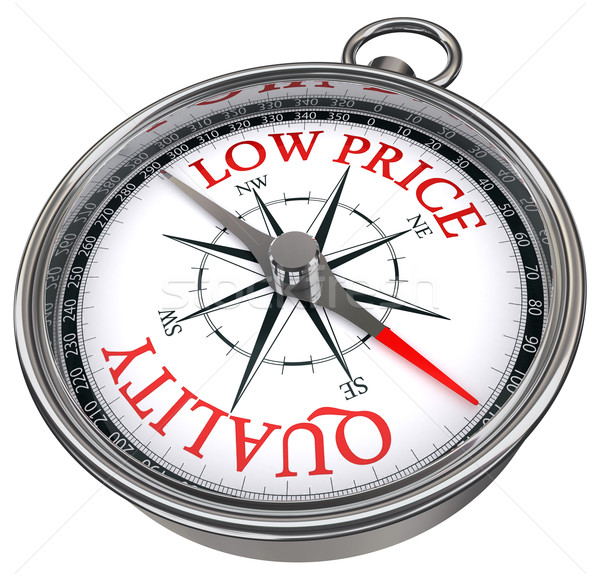 quality versus low price concept compass Stock photo © donskarpo
