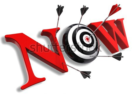 red questionmark and concept target  Stock photo © donskarpo