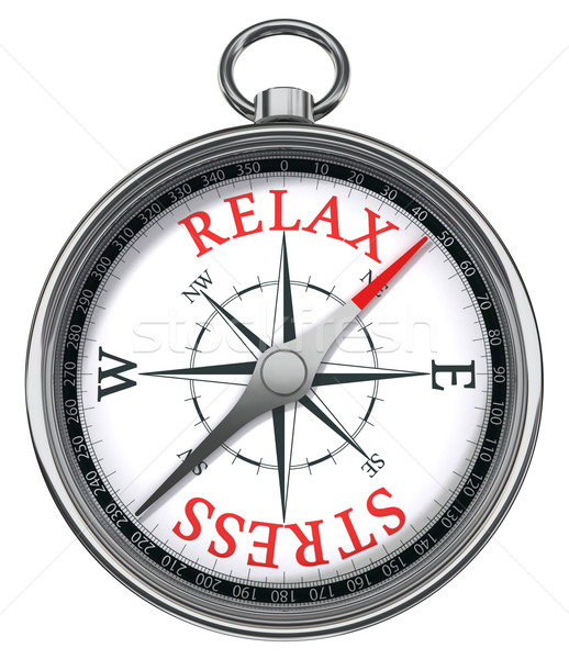 Stock photo: relax stress concept compass