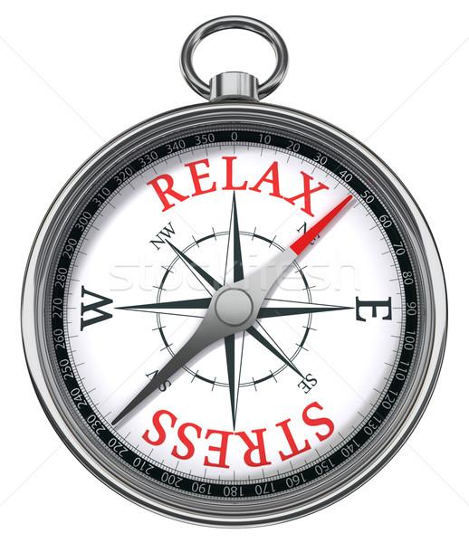 relax stress concept compass Stock photo © donskarpo