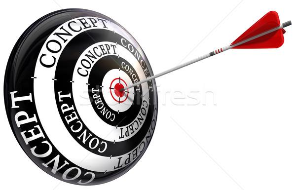 Objetivo palabra flecha exacto aislado blanco Foto stock © donskarpo