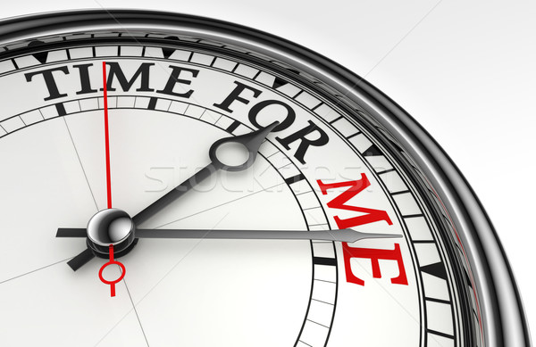 Tempo me relógio branco vermelho Foto stock © donskarpo