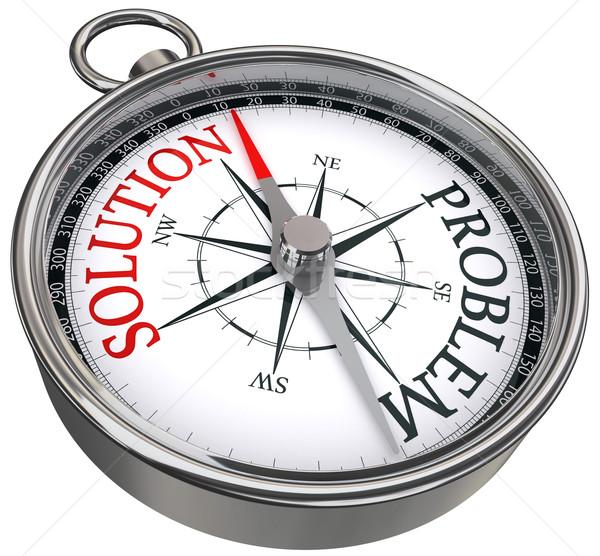 Rozwiązanie problem kompas czerwony vs czarny Zdjęcia stock © donskarpo