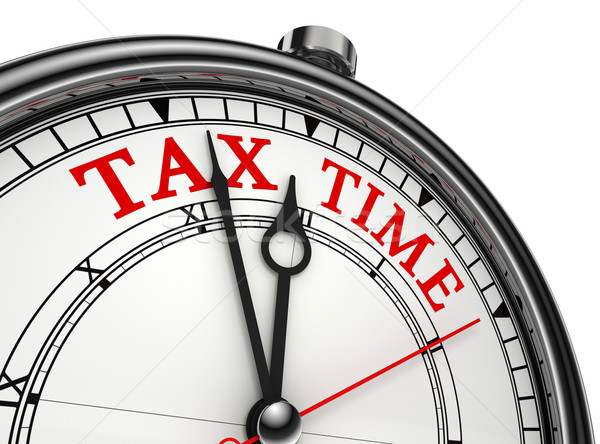Stock photo: tax time concept clock closeup