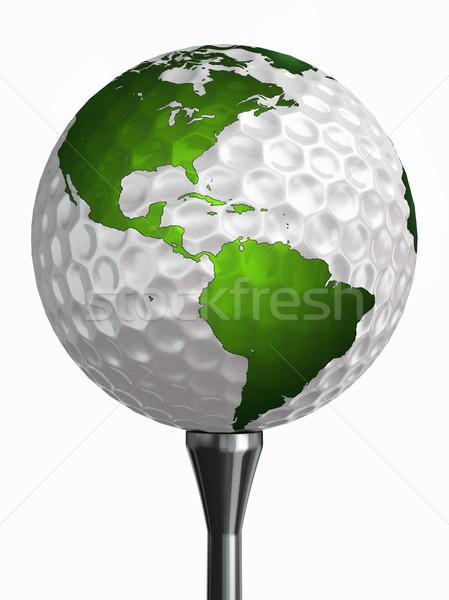 ストックフォト: 北 · ゴルフボール · 孤立した · 白