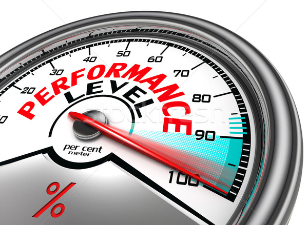 performance level conceptual meter Stock photo © donskarpo