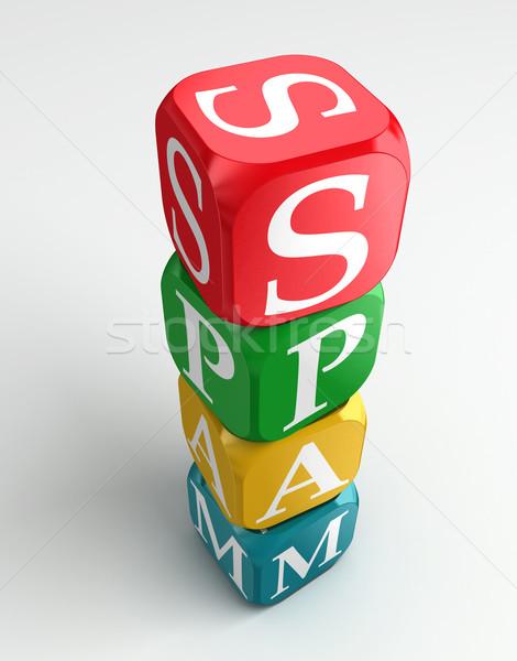 spam 3d colorful buzzword Stock photo © donskarpo