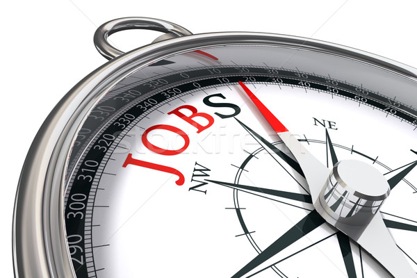 jobs direction indicated by compass Stock photo © donskarpo