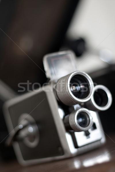 öreg retro kamera közelkép háttér klasszikus Stock fotó © Donvanstaden