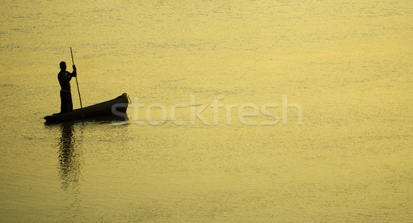 Traditional Fisherman Sillhouette Stock photo © Donvanstaden