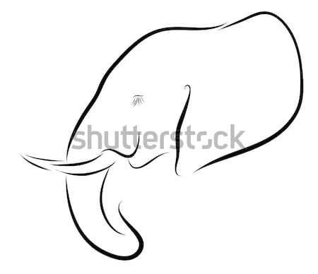 Elephant Icon Stock photo © Donvanstaden