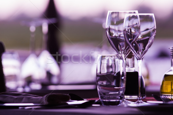 Wine Glasses Stock photo © Donvanstaden