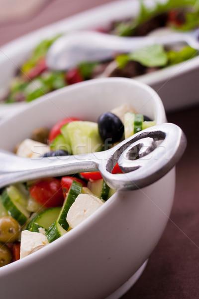 Stock fotó: Friss · zöld · kert · saláta · paradicsomok · uborka