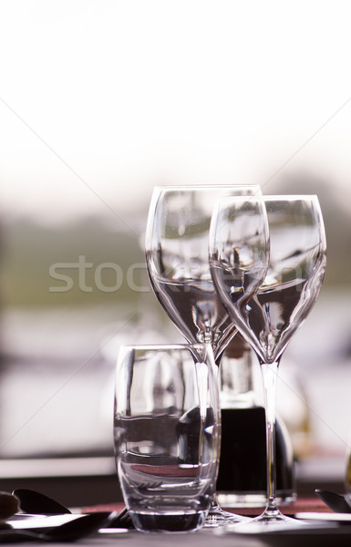 элегантный ресторан Изысканные ужины закрывается фон таблице Сток-фото © Donvanstaden