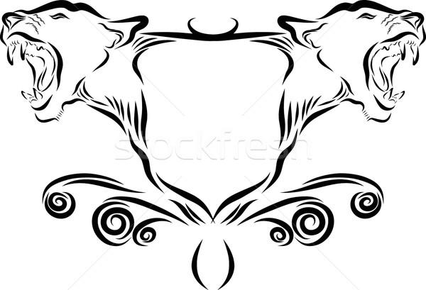 Lion Head Emblem Stock photo © Donvanstaden