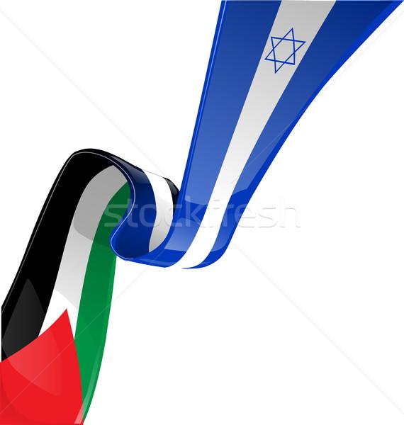 İsrail bayrak beyaz duvar soyut arka plan Stok fotoğraf © doomko