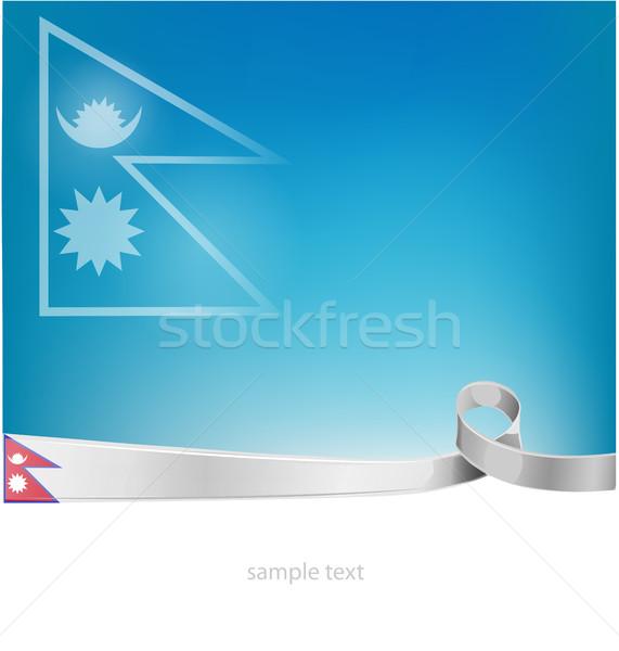 Nepal bayrak gökyüzü soyut sanat takım Stok fotoğraf © doomko