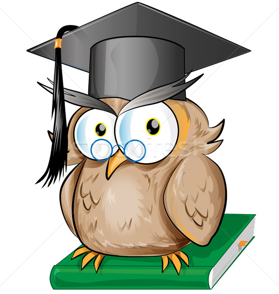 Wise owl cartoon Stock photo © doomko