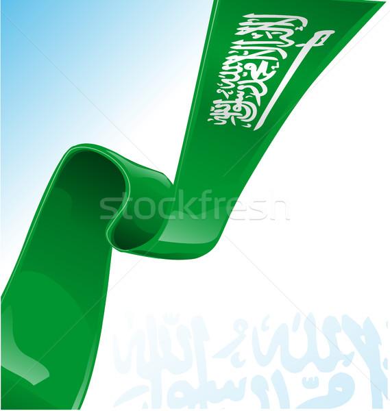 Саудовская Аравия флаг аннотация дизайна знак зеленый Сток-фото © doomko