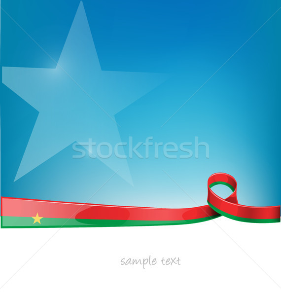 burkina faso ribbon flag on blue sky background Stock photo © doomko
