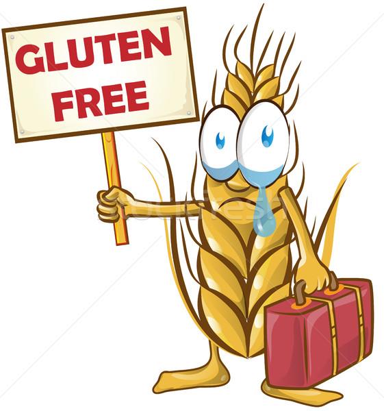 小麦 漫画 孤立した 白 食品 抽象的な ストックフォト © doomko