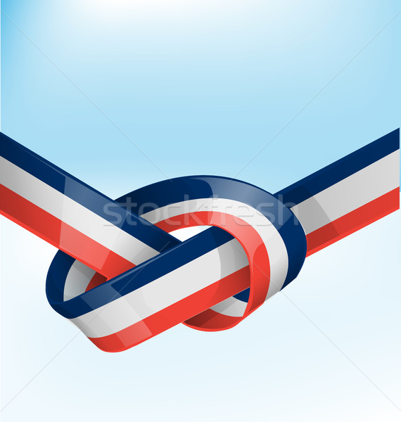 france ribbon flag on bue sky background Stock photo © doomko