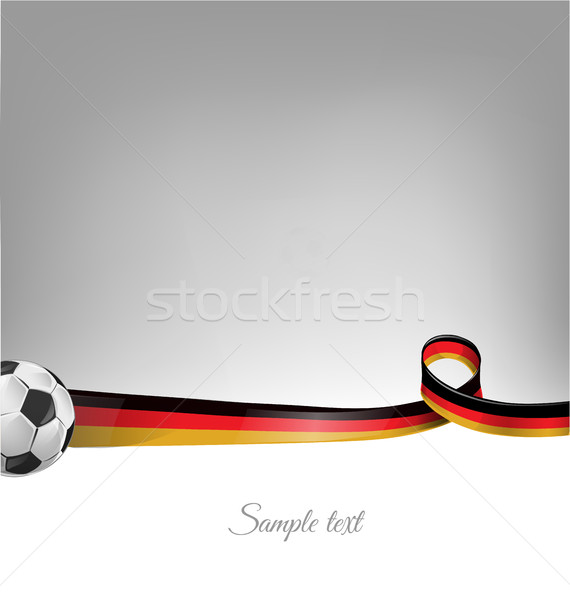 germany background with soccer ball Stock photo © doomko