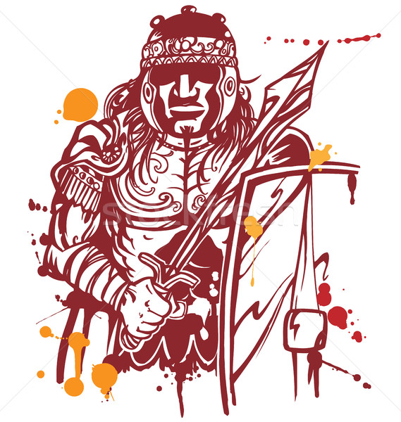 roman warrior Stock photo © doomko