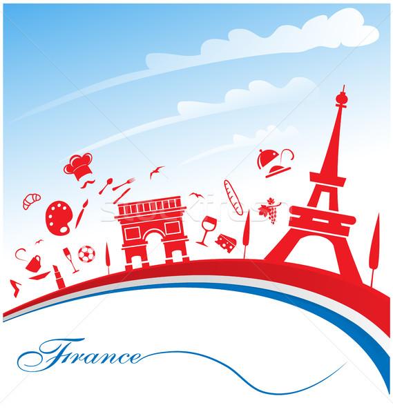 Frankrijk vlag symbool ontwerp achtergrond teken Stockfoto © doomko