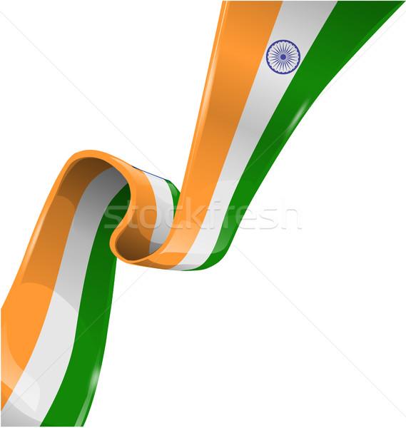 インド リボン フラグ 白 芸術 にログイン ストックフォト © doomko