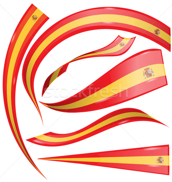 Spanje vlag ingesteld witte abstract ontwerp Stockfoto © doomko