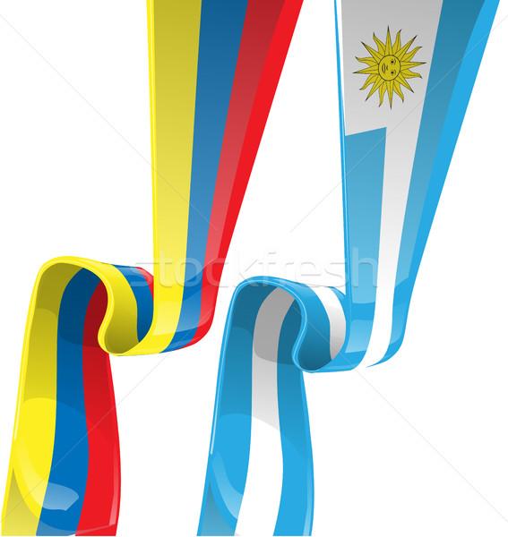 лента флаг бизнеса газета подарок карт Сток-фото © doomko