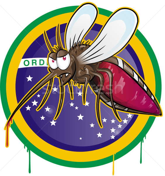 mosquito zika cartoon  Stock photo © doomko