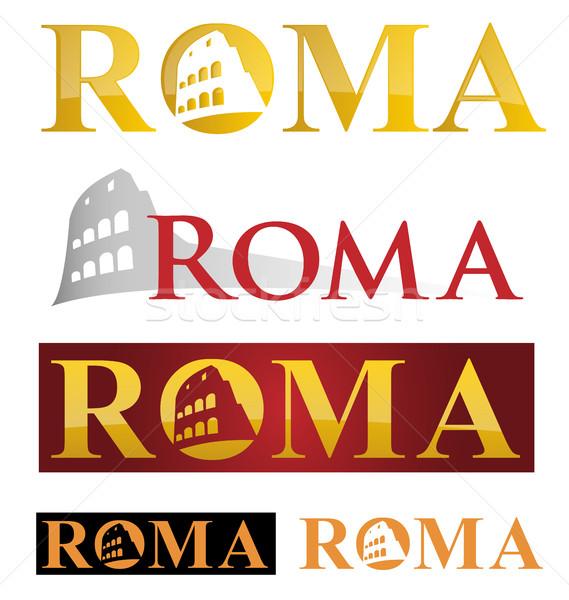 Roma ikon simge beyaz Bina Stok fotoğraf © doomko