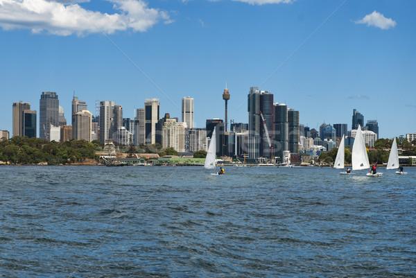 Sydney voiliers eau ville mer Photo stock © doomko