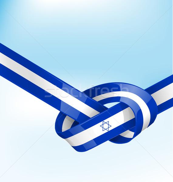 ISDRAEL ribbon flag on background Stock photo © doomko